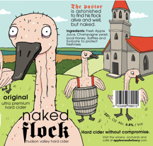 Naked Flock label