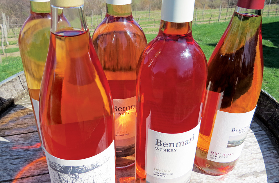 Benmarl WInery bottles of Rosé