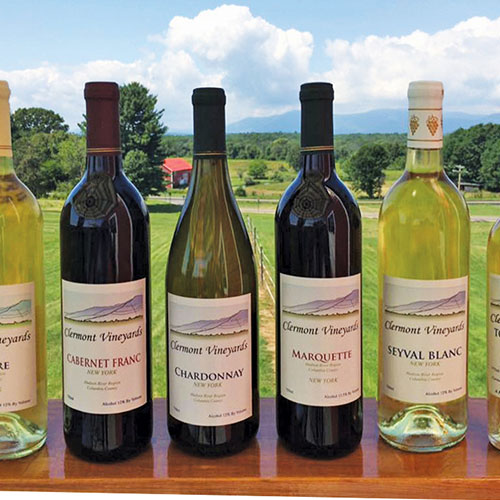 Assorted bottles of Clermont wine