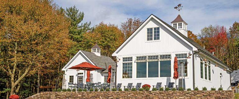 Milea tasting room on fall day