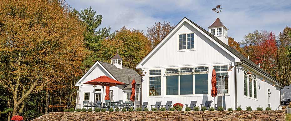 Milea tasting room on fall day