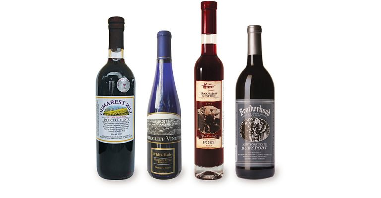 Four bottles of Hudson Valley Port