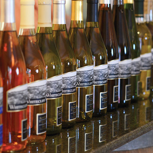 Image of bottles at Whitecliff Vineyard & WInery
