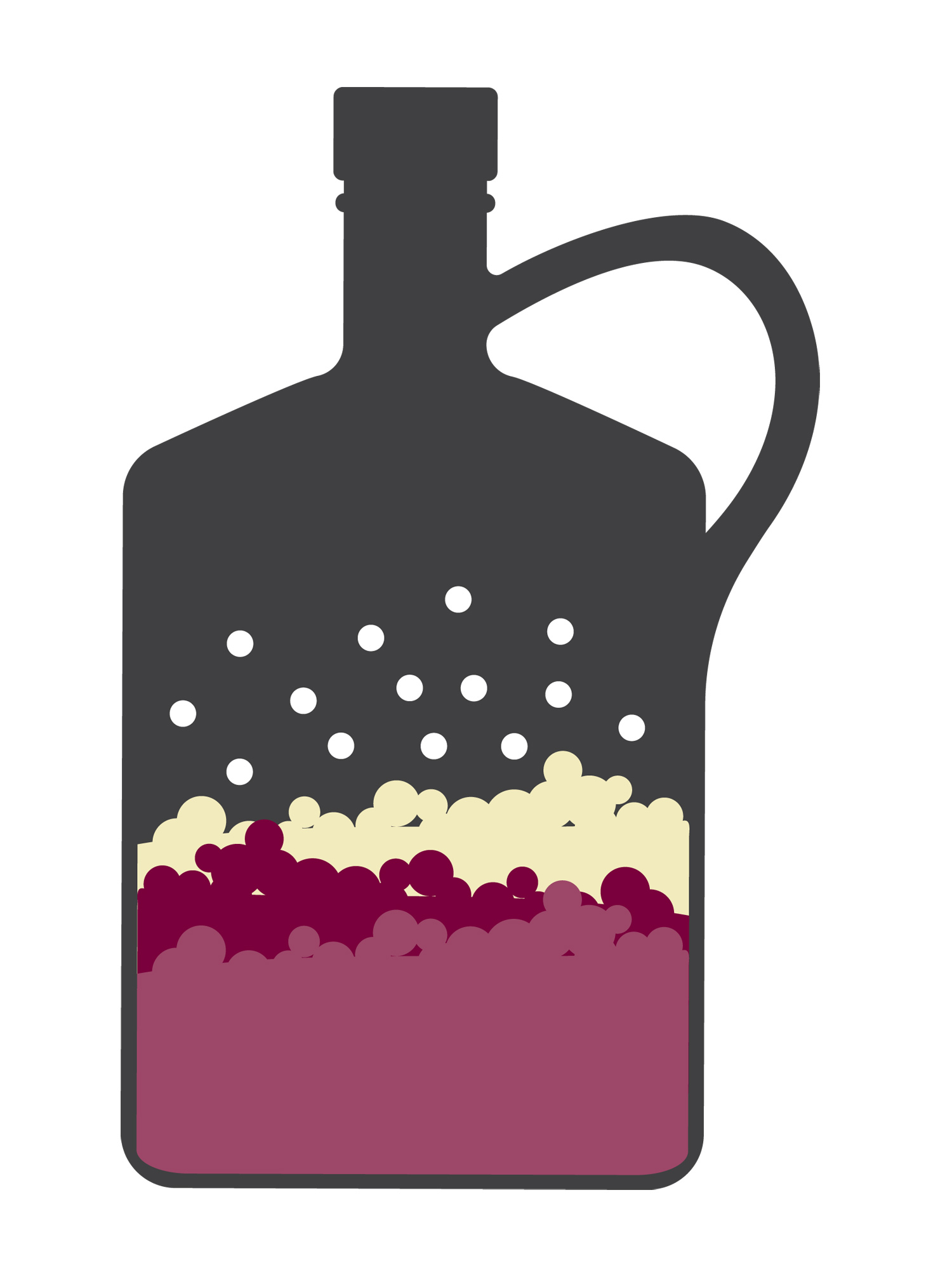 Drawing of Growler filled with a substance