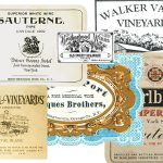 Vintage Hudson Valley wine labels