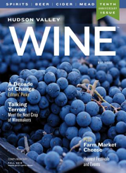 Fall 2018 Hudson Valley Wine magazine cover with grapes on it
