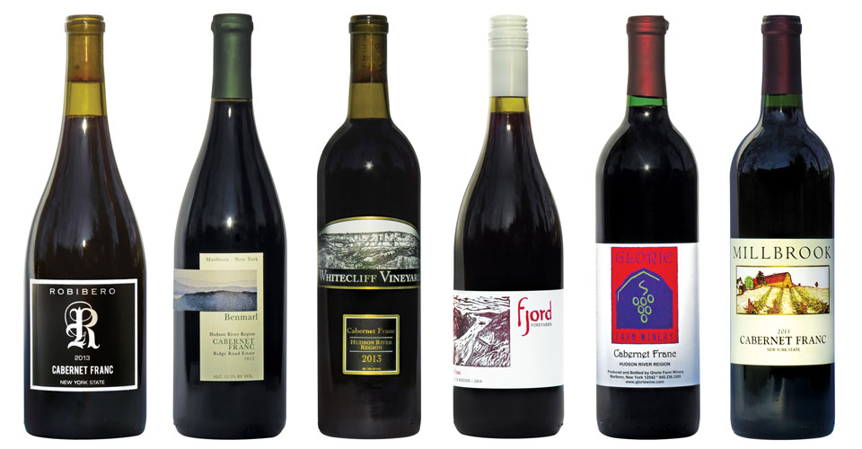 photo of 8 bottles of Hudson Valley Cabernet Franc wines