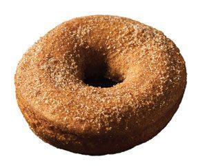 silhouette photo of a plain sugar donut.