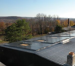 photo of the solar panels at Brotherhood, America's Oldest Winery.