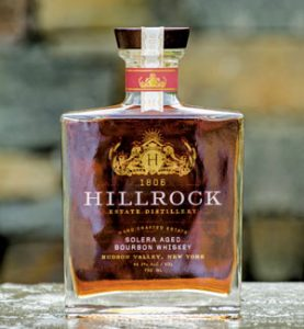 photo of bottle of Solera Aged Bourbon Whiskey, from Hillrock Estate Distillery