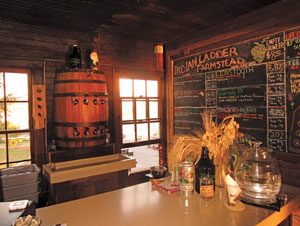 interior view at the Indian Ladder Farmstead Cidery and Brewery, in Altamont