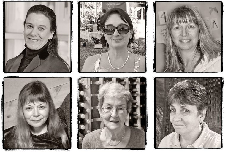 Portraits of six women of the Hudson Valley wineries