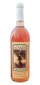 Silhouette photo of Peachberry Kir, from Adair Vineyards