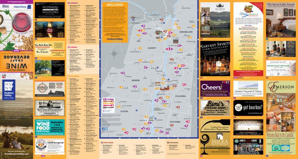 The Hudson Valley Wine Magazine Beverage Map