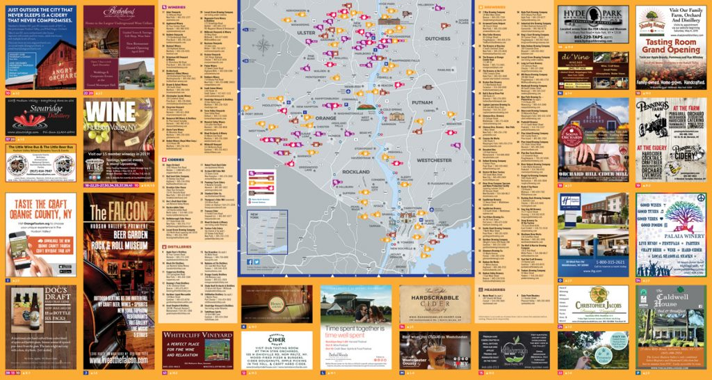 The Hudson Valley Wine Magazine Beverage Map Side Two