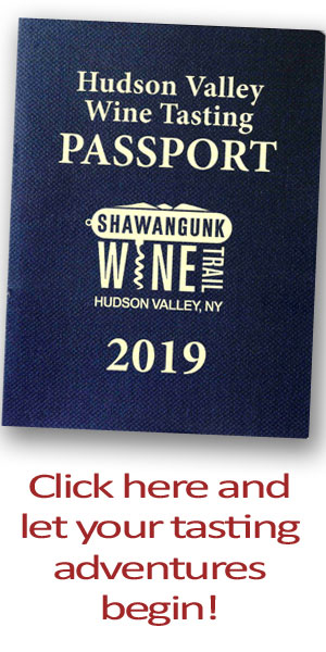 vertical banner ad for Hudson Valley Wine Tasting Passport 2019.
