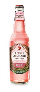Silhouette bottle of Angry Orchard Rosé Hard Cider.