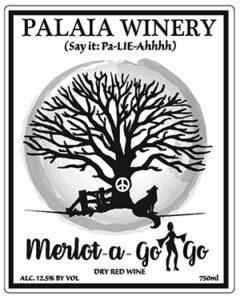 Palaia WInery merlot wine label