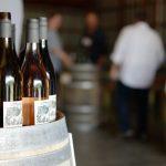 View of Fjord Cab Franc bottles, on barrel during the 2019 Cab Franc Barrel Tasting at Nostrano Vineyards.
