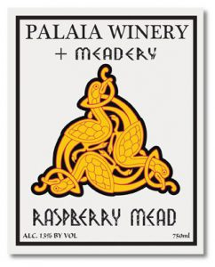 Palaia Winery Raspberry Mead label