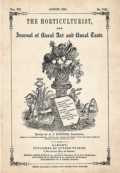 vintage catalog cover The Horticulturist