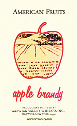 American Fruits Apple Brandy label from 2003