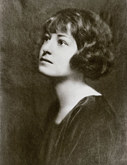 vintage b/w photo of Dorothy Parker