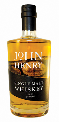 bottle of John Henry Whiskey