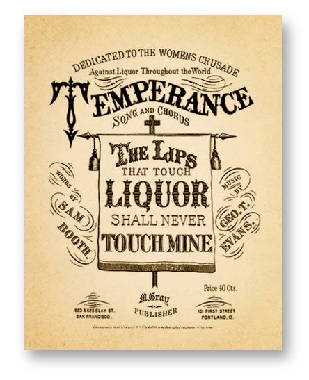 Vintage Temperance sheet music