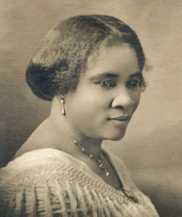 Sepia photo of Madame C.J. Walker