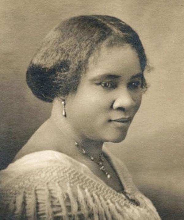 Sepia photo of Madame C.J. Walker