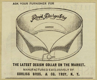 vintage ad for detachable collars