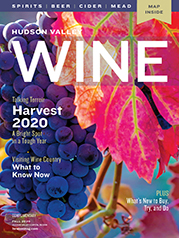 Fall 2020 cover of hudson Valley Wine magazine