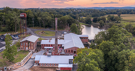 drone photo of City Winery property