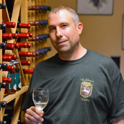 Portrait of winemaker Alex Landolino from Baldwin Winery.