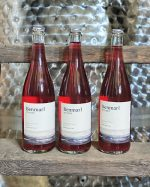 Three bottles of Benmarl pink wine