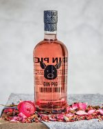 Bottle of Warwick pink gin